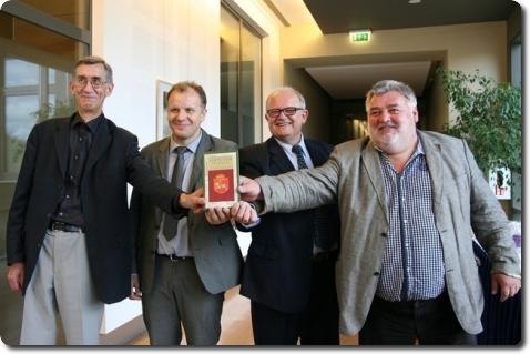 Iš kairės: Antanas Kulakauskas, Mindaugas Tamošaitis, Alfonsas Eidintas ir Alfredas Bumblauskas | URM nuotr