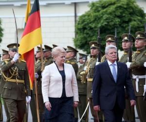 Valstybinio vizito į Lietuvą atvyko Vokietijos Federacijos Prezidentas Joachimas Gaukas | lrp.lt, Dž.G.Barysaitės nuotr.