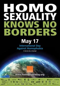 """""""Homoseksualumas neturi ribų"""" - 2009 m. homoseksualizmo propagandos plakatas"""