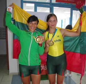 Europos čempionės irkluotojos Donata Vištartaitė ir Milda Valčiukaitė iškovojo aukso medalius Kazanėje (Rusija) vykstančioje 27-oje vasaros Universiadoje | feisbuko nuotr.