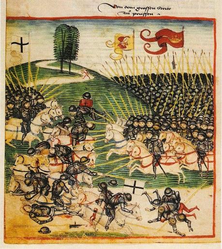Žalgirio mūšis. Dieboldo Schillingo Vyresniojo Berno kronika, 1474 m.
