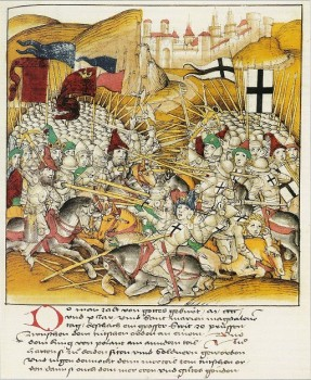 Žalgirio mūšis. Dieboldo Schillingo Jaunesniojo Liucernos kronika, 1513 m.