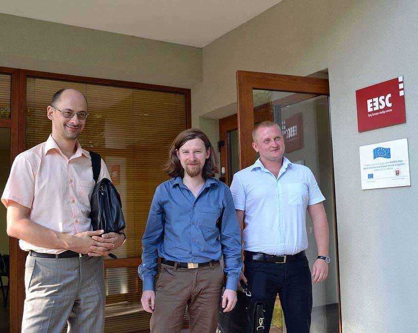 Svečiai iš Gudijos (iš kairės į dešinę): A.Sinkevičius,  A.Dzermantas, A.Špakovskis  | cytadel.org nuotr.