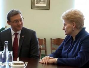 Igoris Cormanas ir Dalia Grybauskaitė