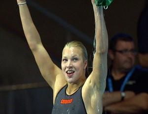 Rūtą Meilutytė džiaugiasi dar vienu pasaulio rekordu | Akas.lt nuotr.
