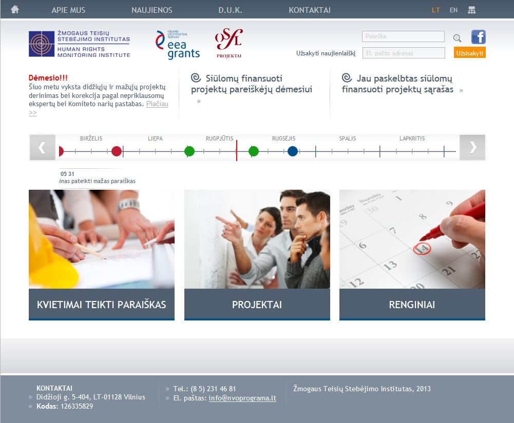 Nevyriausybinių organizacijų (NVO) Programos oficialus tinklalapis NVOprograma.lt