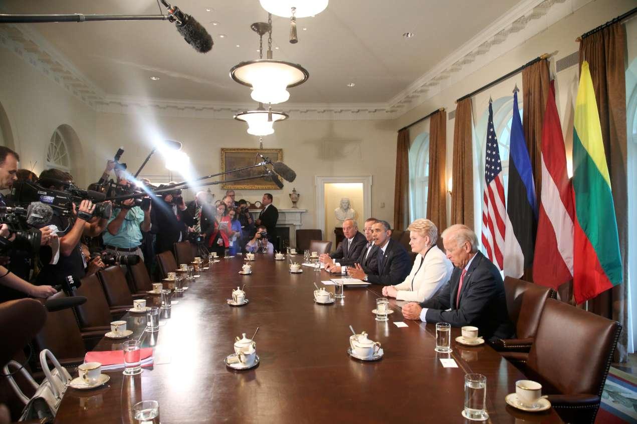 Baltijos šalių prezidentai susitinka su B.Obama | lrp.lt, Dž.G.Barysaitės nuotr.