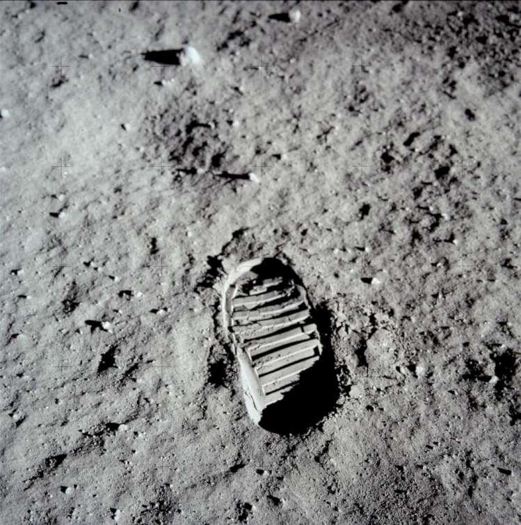 Astronauto pėdsakas Mėnulio paviršiuje | NASA nuotr.