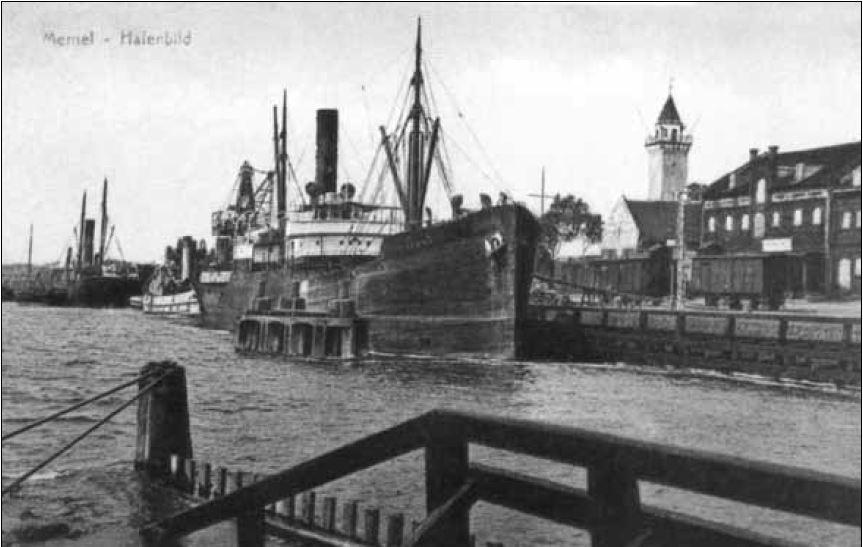 Klaipėdos uostas atvirukas (1934-08-01)*