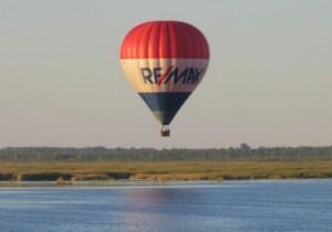 Oro balionas virš Žuvinto ežero rugsėjo 5 d. | Žuvinto biosferos RD nuot.