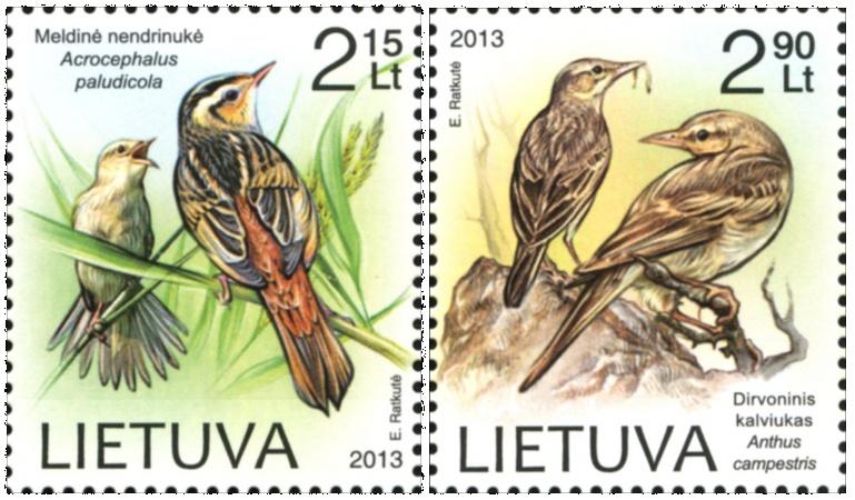 Pašto ženklai su paukščiais