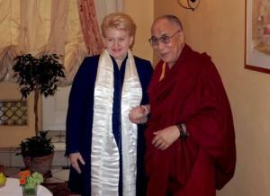 D.Grybauskaitė ir Dala Lama | Dž.Barysaitės nuotr.