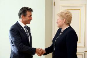 D.Grybauskaitė susitiko su  NATO Generaliniu Sekretoriumi A.Rasmusenu | lrp.lt, Dž.G.Barysaitės nuotr.