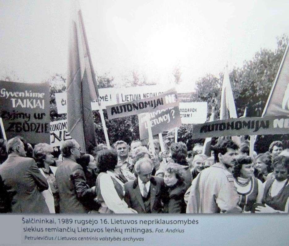 Šalcininkai, lenkų remiančių Lietuvos nepriklausomybę mitingas prieš autonomininkus | Archyvinė nuotr.