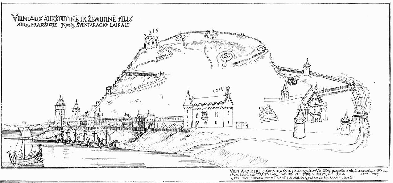 Sigito Lasavicko piešinyje spėjamas kalvos vaizdas iki Gedimino valdymo laikų. Viršūnėje keletas akmenų ratų galbūt skirti stebėti dangaus šviesuliams, pagal kurių padėtį nustatomas tikslus laikas ir apeigų bei metų darbų seka