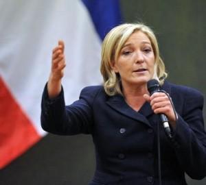 Nacionalinio fronto pirmininkė Marine Le Pen