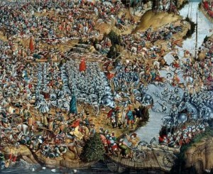 Oršos mūšis 1514-09-08 d., paveikslo esančio Lenkijos nacionaliniame muziejuje fragmentas | Wikimedia.org nuotr.