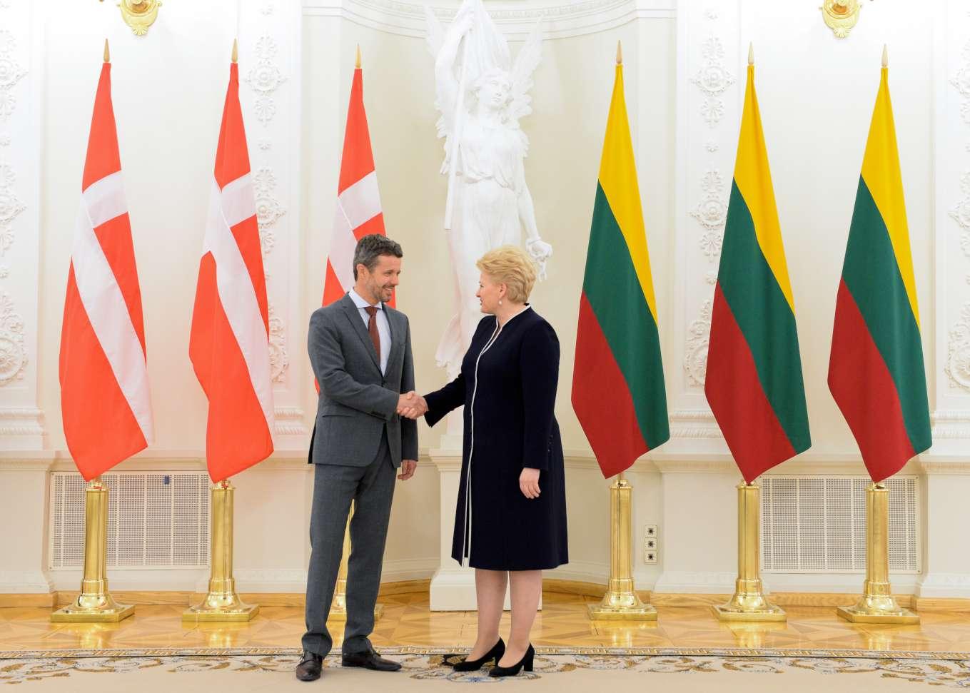 D.Grybauskaitė susitiko su Danijos sosto įpėdiniu Princu Frederiku   lrp.lt nuotr.