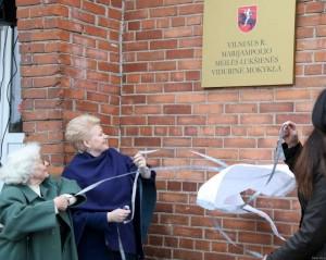 Vilniaus rajono Marijampolio vidurinei mokyklai suteiktas Meilės Lukšienės vardas | lrp.lt, Dž.G.Barysaitės nuotr.