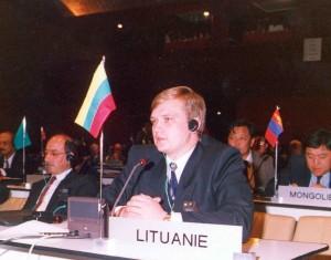 Ministro Pirmininko pavaduotojas Z.Vaišvila Urugvajuje, Punta dėl Este, 60-ojoje Interpolo Generalinės Asamblėjos sesijoje, 1991 lapkričio 4 d. | organizatorių nuotr.