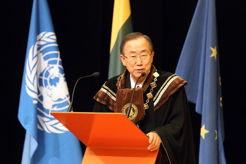 J. E. Ban Ki-moonas | kaunas.lt nuotr.
