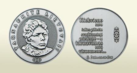 G. Petkevičaitės-Bitės_medalis | lrs.lt nuotr.