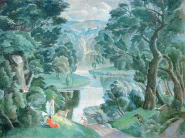 Romantinis peizažas | M.Raubos pieš., 1938 m., Varšuvos nacionalinis muziejus