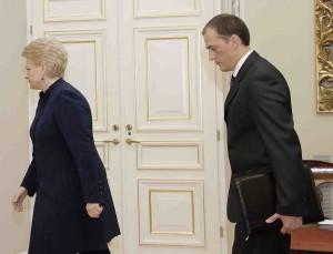 D.Grybauskaitė ir Ž.Bartkus   lrp.lt nuotr.