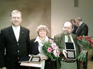 Valstybinė J. Basanavičiaus premija įteikta architektams Marijai ir Martynui Purvinams | lrkm.lt nuotr.