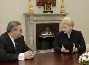 Dalia Grybauskaitė priėmė Gruzijos parlamento pirmininką Davidą Usupašvilį | lrp.lt, Dž.G.Barysaitės nuotr.