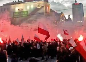 Riaušės Varšuvoje | Alkas.lt nuotr.
