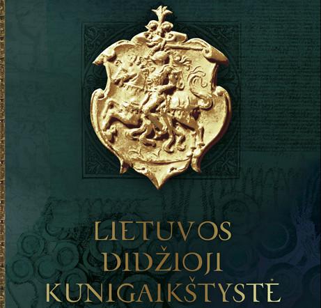 """M.Jučo knygos """"Lietuvos Didžioji Kunigaikštystė"""" viršelio dalis"""