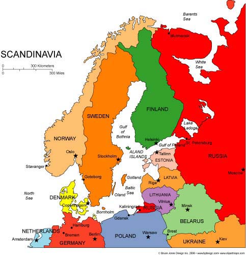 Skandinavija ir Baltijos šalys | www.bjdesign.com nuotr.