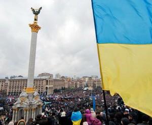 Daugiatūkstantinė demonstracija Kijevo Laisvės aikštėje | Ukrainian Foto nuotr.
