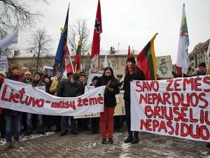 Mitingas prie Seimo prieš VRK veiksmus | Alkas.lt, A.Rasakevičiaus nuotr.
