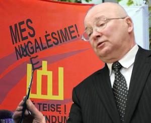 Zenonas Vaigauskas pergudravo Pranciškų Šliužą | Alkas.lt asociatyvinė nuotr.