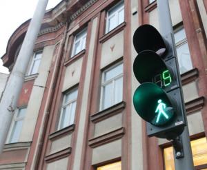 Šviesoforas su laikamačiu | Kauno miesto savivaldybės nuotr.