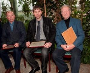 Aukso vainiko laureatai (iš kairės) Steponas Kaminas, Virgilijus Mikuckis, Pranas Dužinskas | LLKC nuotr.
