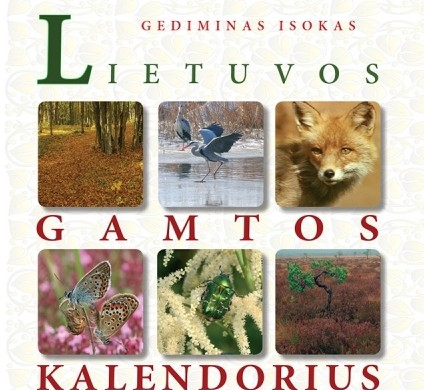 "G.Isoko ""Lietuvos gamtos kalendorius"", viršelio dalis"