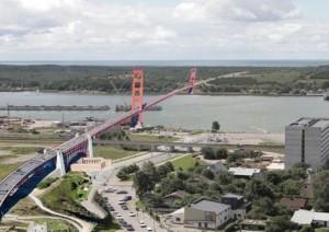 Tiltas i Kuršių Neriją (maketas) | portoklaipeda.lt nuotr.
