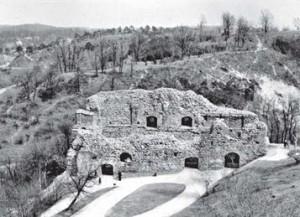 Vilniaus piliakalnis Kreivasis Kalnas iš vakarų pusės (nuo Pilies Kalno boksto) 1966 m.   A. Merkevičiaus nuotr., kvr.kpd.lt