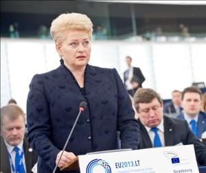 D.Grybauskaitė Europos Parlamente davė deramą atkirtį Lietuvą juodinusiam Tomaševskiui | europarl.europa.eu nuotr.