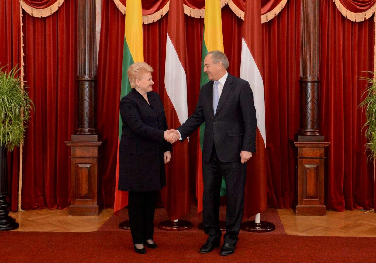 Dalia Grybauskaitė ir AndrisBėrzinis | lrp.lt nuotr.
