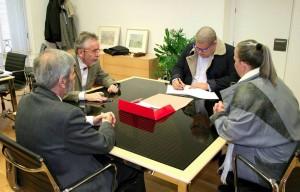 Liudvikas Jakavičius-Grimalauskas dokumentų apie Liudviko Jakavičiaus-Lietuvanio gyvenimą ir darbą pristatymo metu | asmeninio archyvo nuotr.