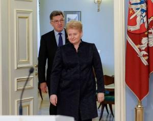 D.Grybauskaitė ir A.Butkevičius | lrp.lt, R.Dačkaus nuotr.