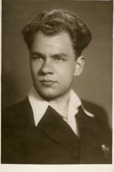 Bronislovas Genzelis – būsimasis studentas. 1954 m.   B. Genzelio asmeninė nuotr.