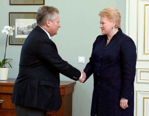 A.Kvasnevskis ir D.Grybauskaitė | lrp.lt, R.Dačkaus nuotr.