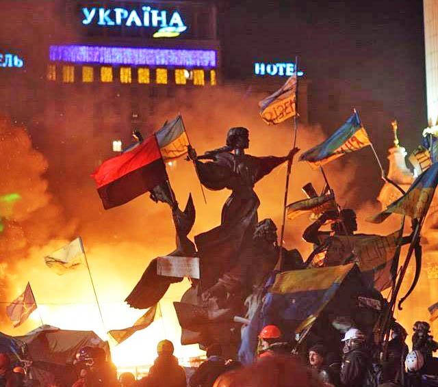 Maidanas ugnyje | maidan.org.ua Feisbuko paskyros nuotr.
