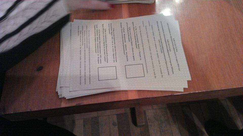 Referendumo balsavimo biuletenis. O.Kriučkovo nuotr.