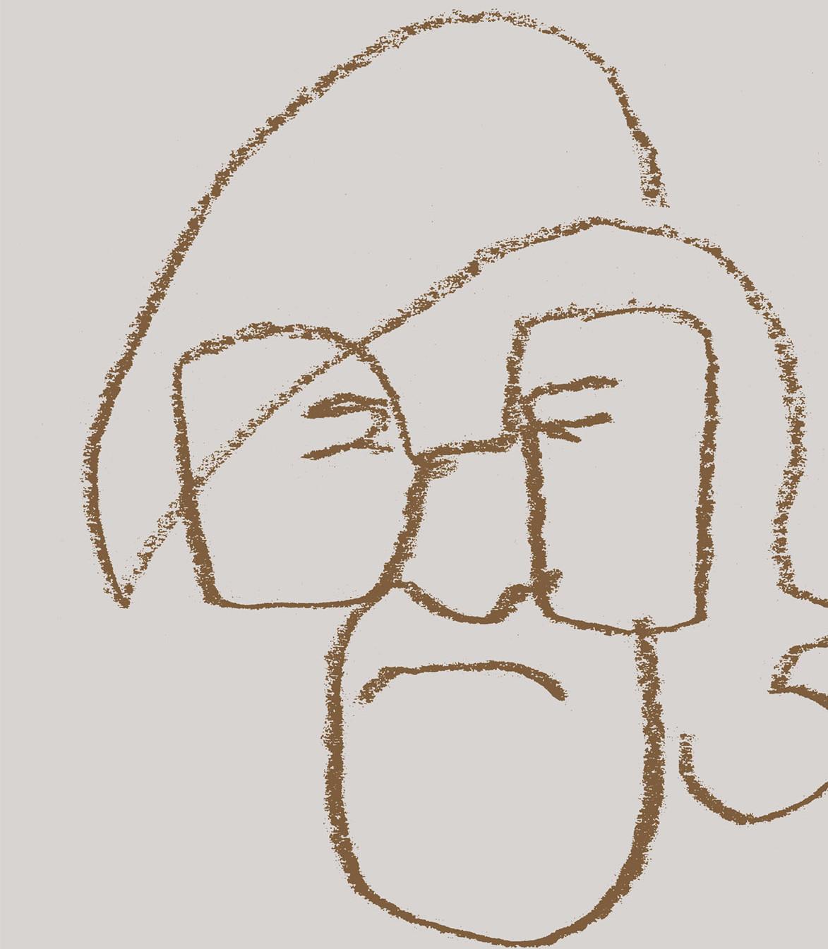 M.Martinaičio anūkės piešinys knygos viršeliui